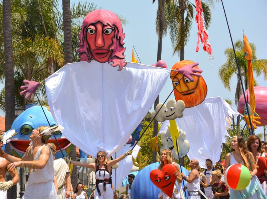 Giant Puppets by Matthew McAvene for Santa Barbara Solstice Parade