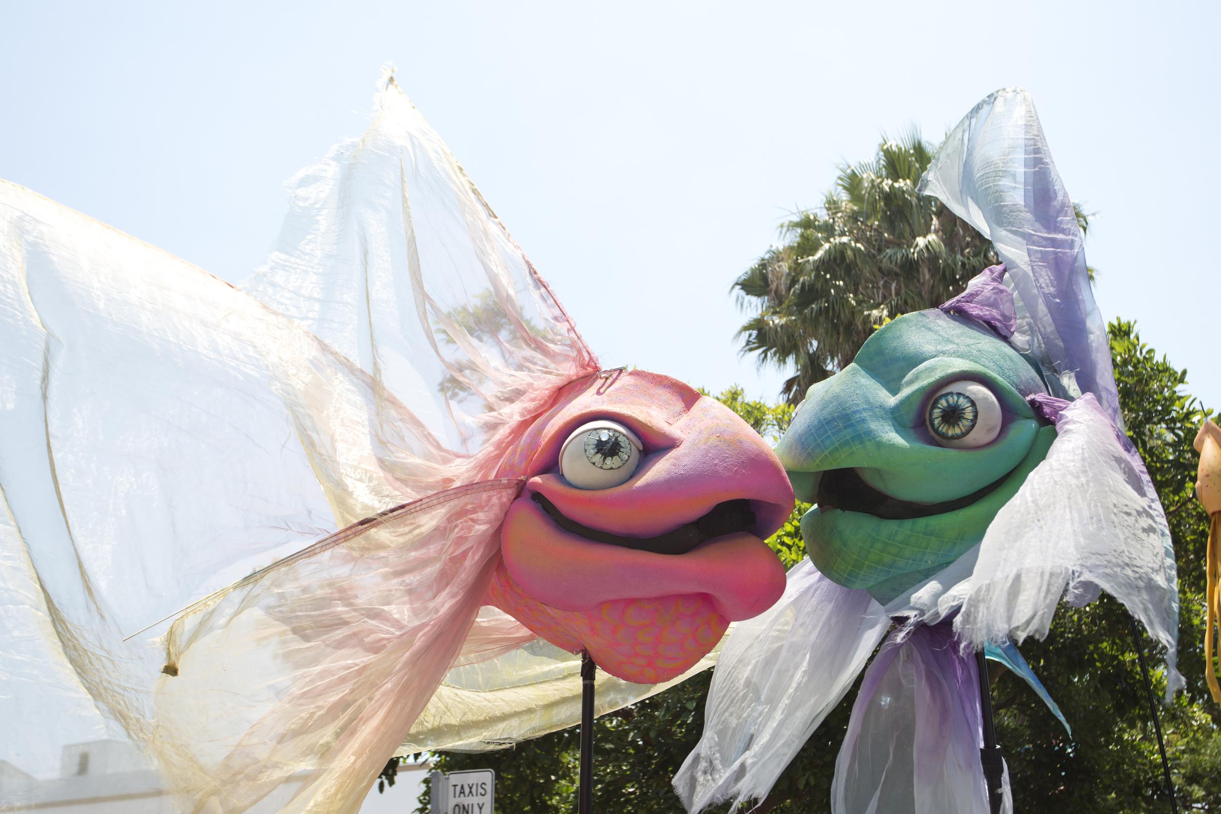 Giant Fish by Matthew McAvene for Santa Barbara Solstice Parade