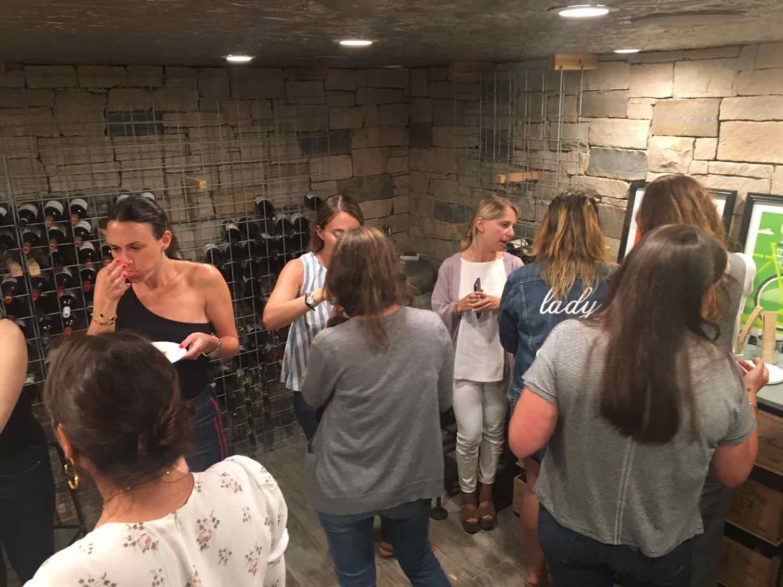 In the wine cellar….