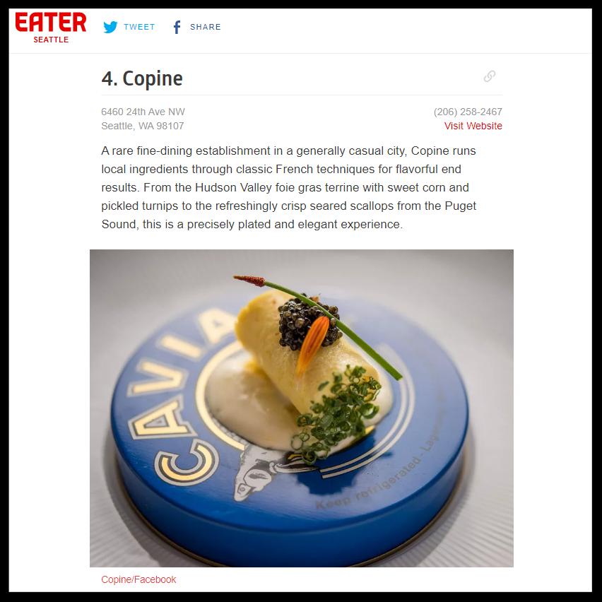 """Eater Seattle   September 2018  """"Where to Eat in Ballard"""""""