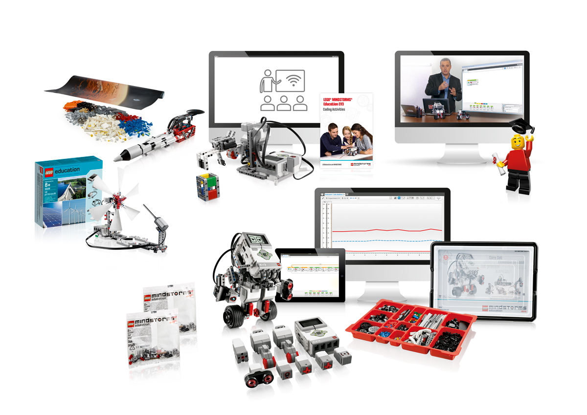 LEGO Education Mindstorms EV3 tem muitas possibilidades para a sua sala de aula.