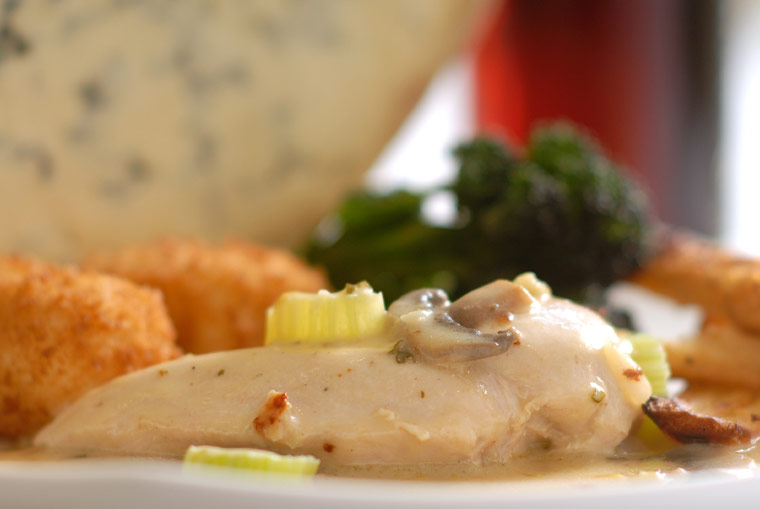 Chicken in Stilton and Celery Sauce