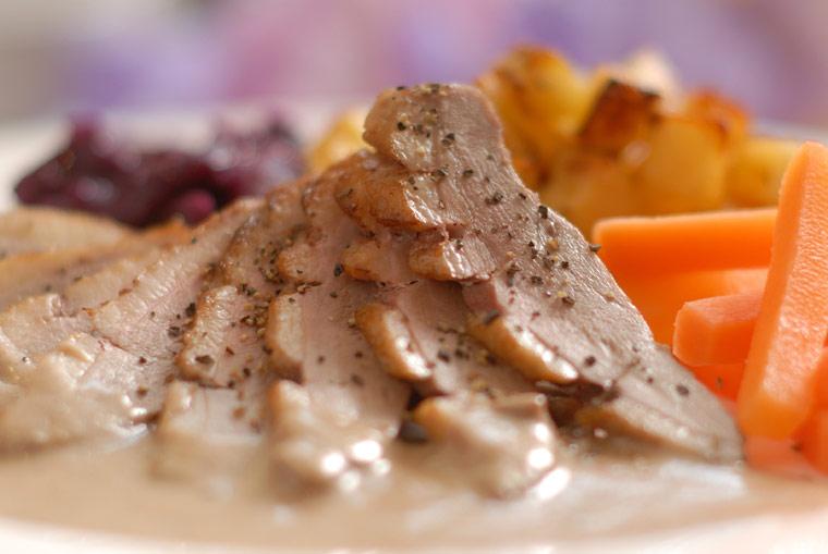 Duck Breast in Bramble Sauce