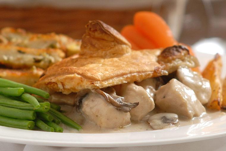 Chicken and Field Mushroom Pie