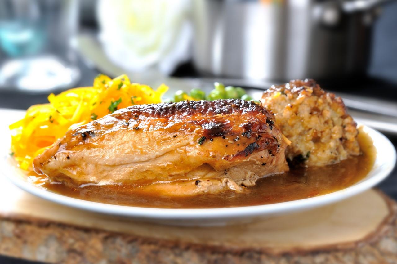 Traditional Roast Chicken in Gravy