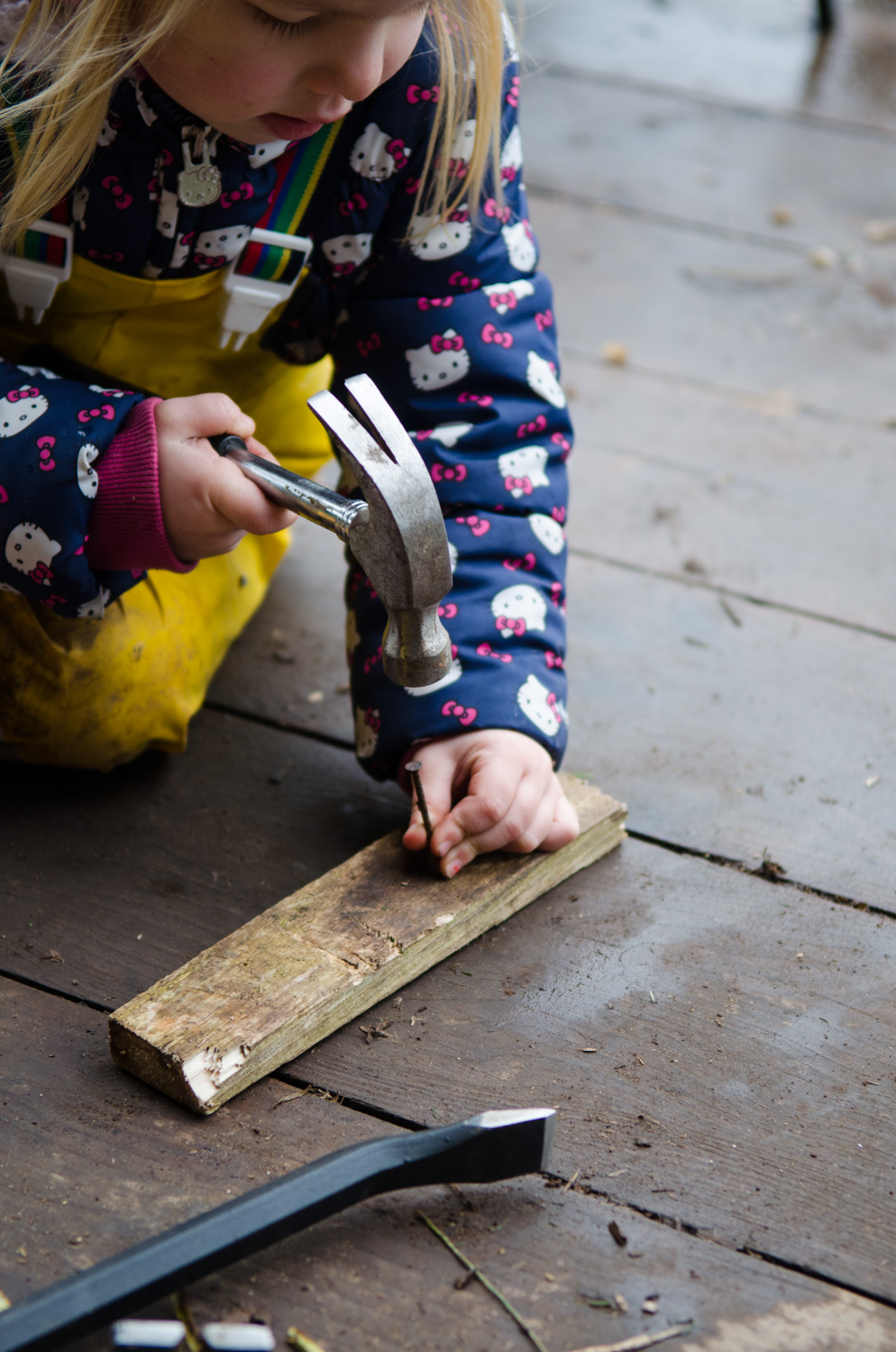 The learning that can occur when a child uses a tool is huge. Just being given a dangerous tool can boost confidence and self-esteem, especially when they can achieve or overcome.
