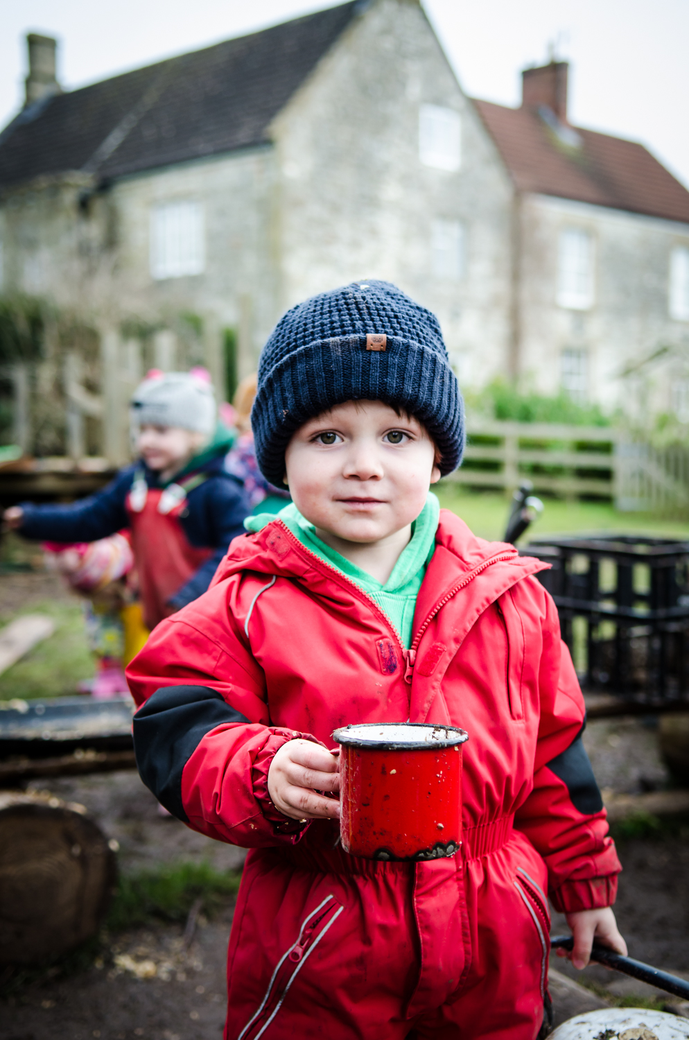 """Would you like a cup of tea?""  Roleplay offers children the chance to explore and ""play-out"" social conventions and conversations overhead from adults."
