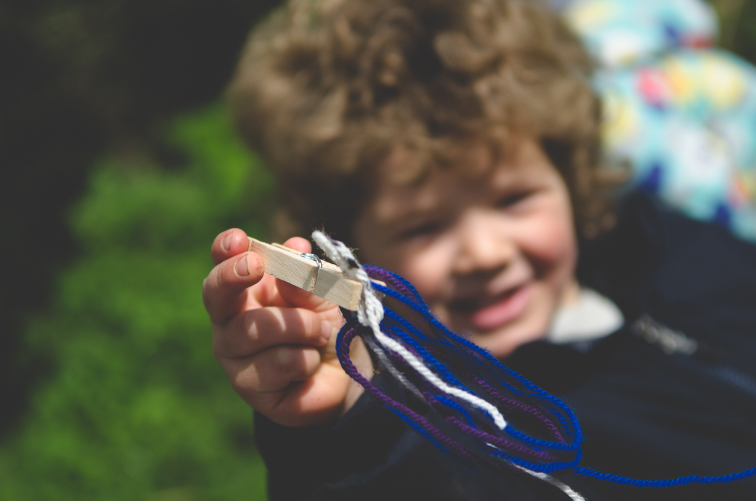 Patience & Persistence: Often a lack of fine motor skill development, married with the competition of the other 'birds' flapping nearbycaused fraught children to resort to using fingers, but it's all part of the child's own learning development.