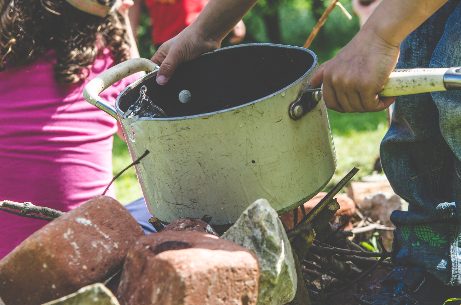 """Quick! Here comes the Wolf! Get the pan on the fire!""  This imaginative play cemented co-operative learning, recall skills, creativity and communication to name but a few of the rich development pickings from these sessions."