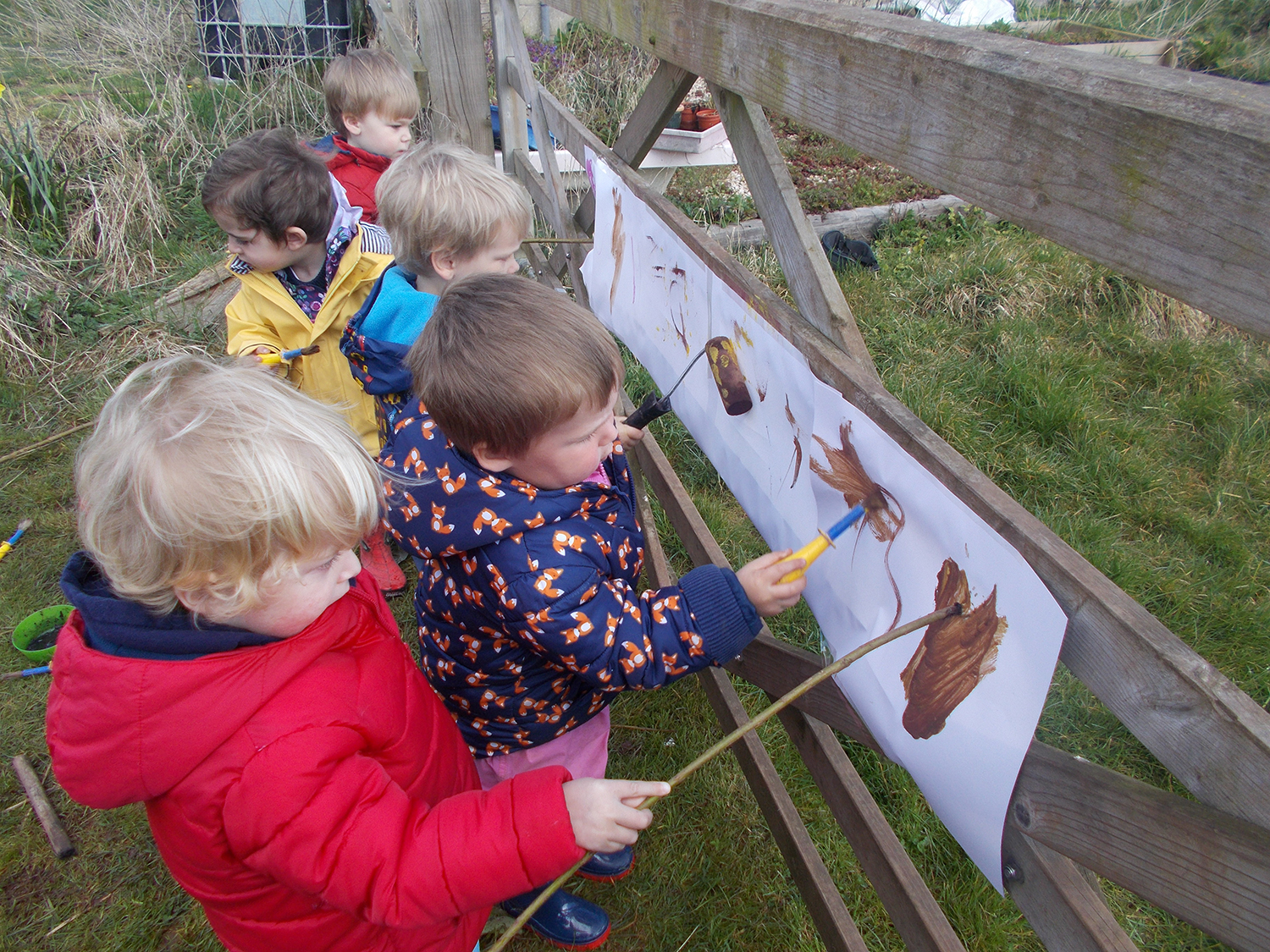 Mark making using natural materials — Welton Free Rangers - Forest School Nursery