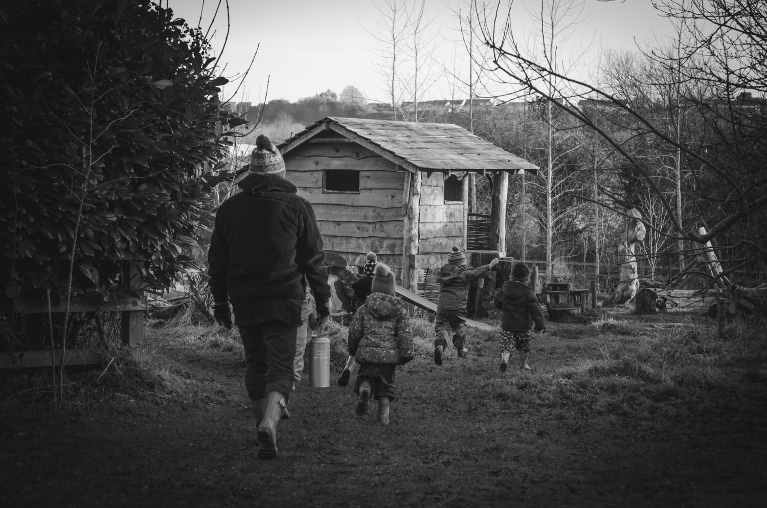 Letting the children lead the way. Finding their own paths.