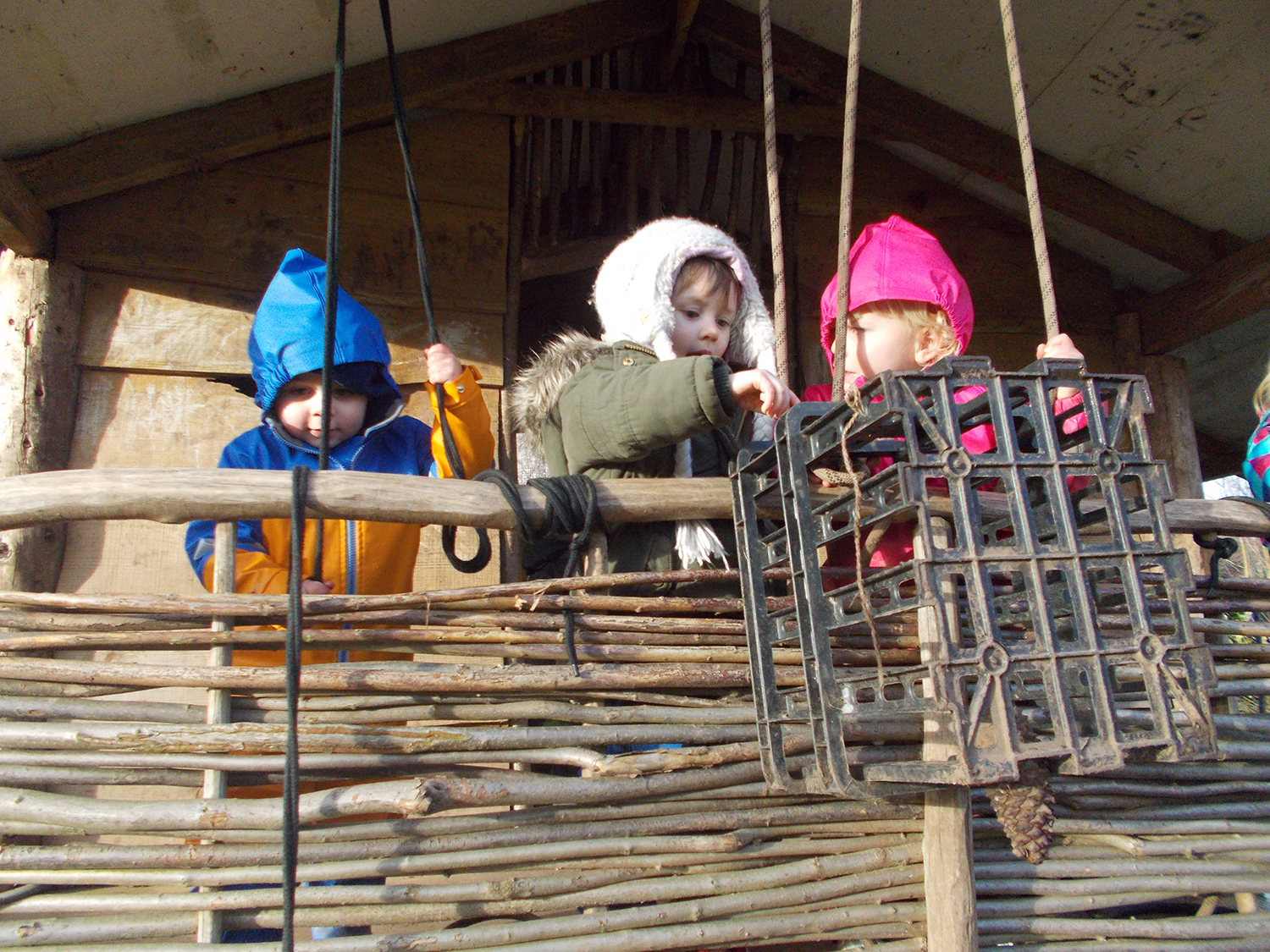 Burrow children at the Tree House