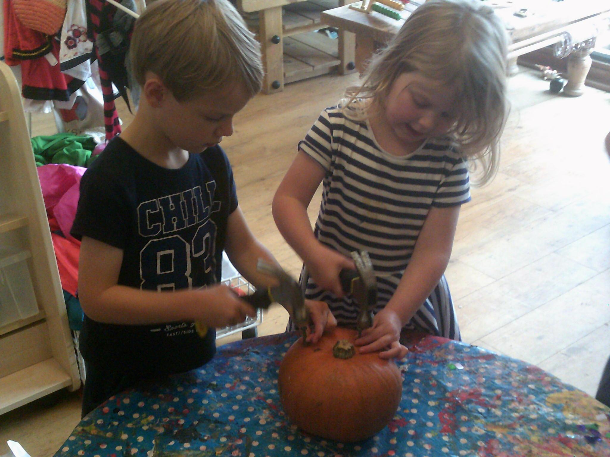 Pumpkins in the Den