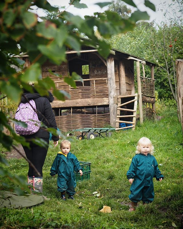 No such thing as bad weather just bad clothing. Here are some of our Hive babies venturing out in all weathers. #muddywildhappychild