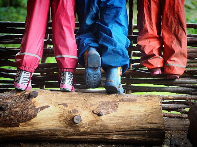 Children very rarely want to sit down, they'd much rather climb.  We encourage them to do it here in order to save your sofas. . #climbtreesnotsofas #saveoursofas #thesefeetaremadeforclimbing #muddywildhappychild