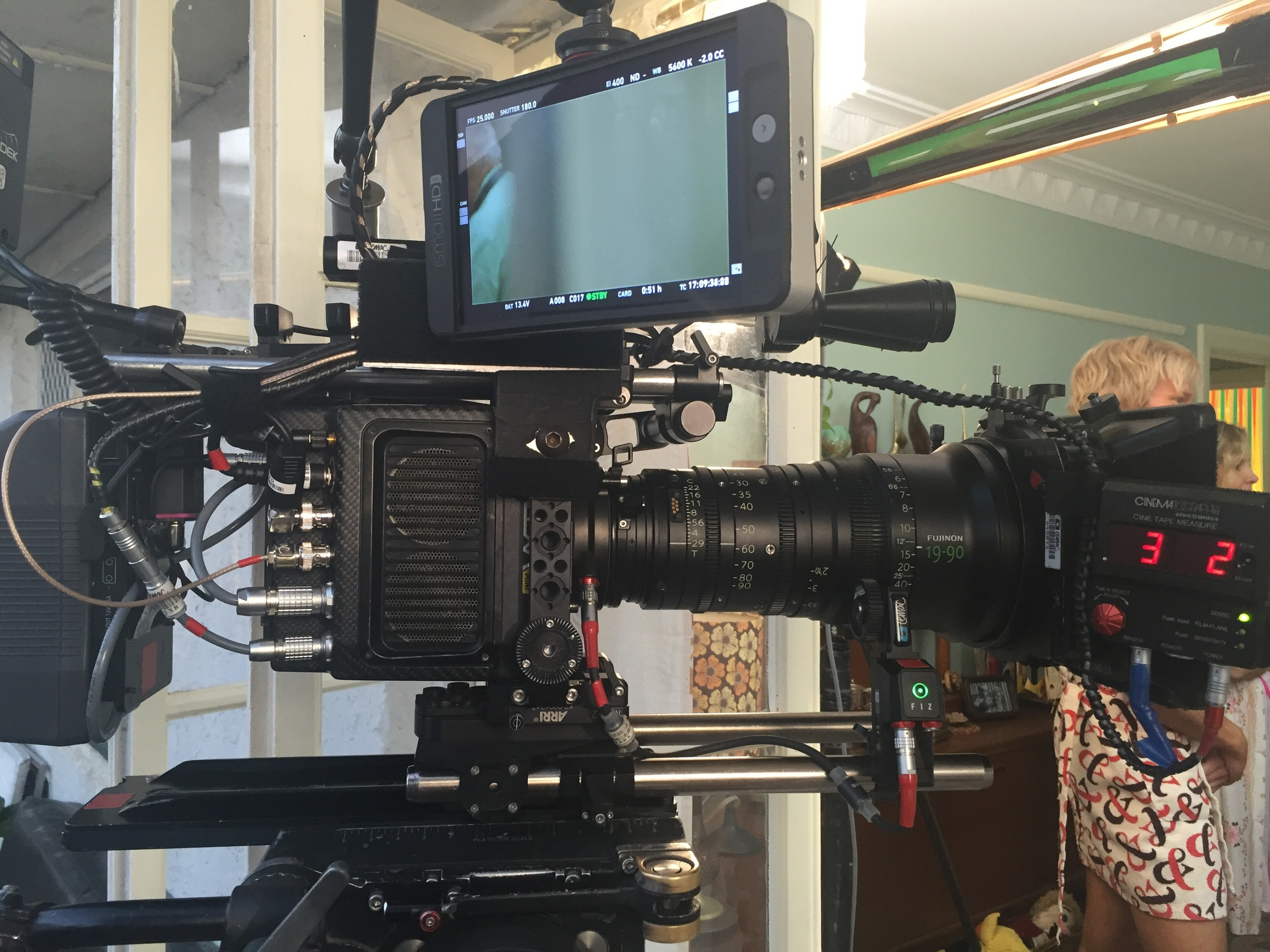 Alexa mini   with 19-90 Fujinon Cabrio LMB 5 and new small HD monitor 7
