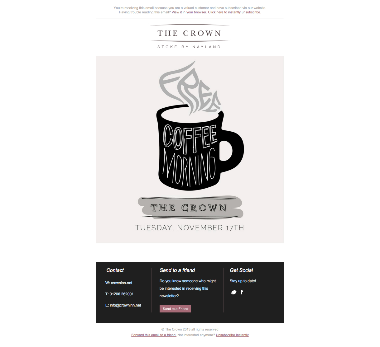 The-Crown-Inn-Free-Coffee-Day-Newsletter
