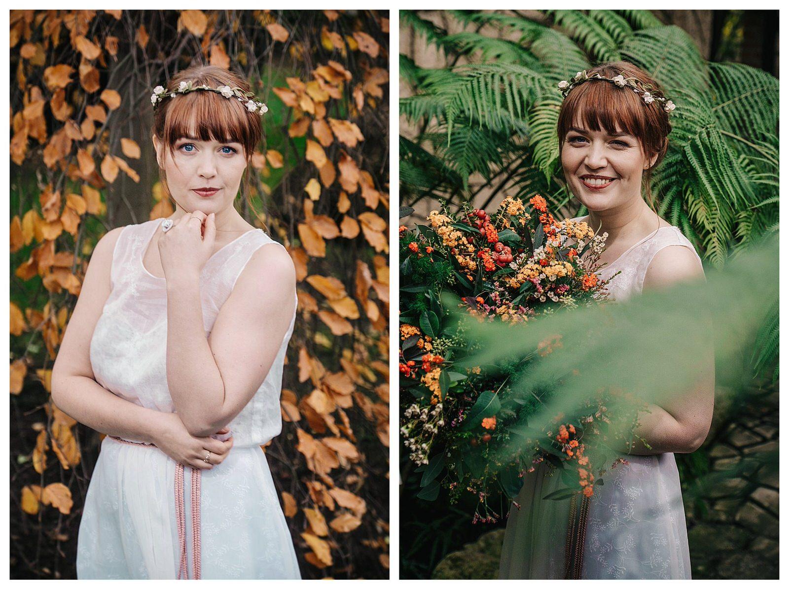 Bohemian bridal shoot kruidtuin Leuven