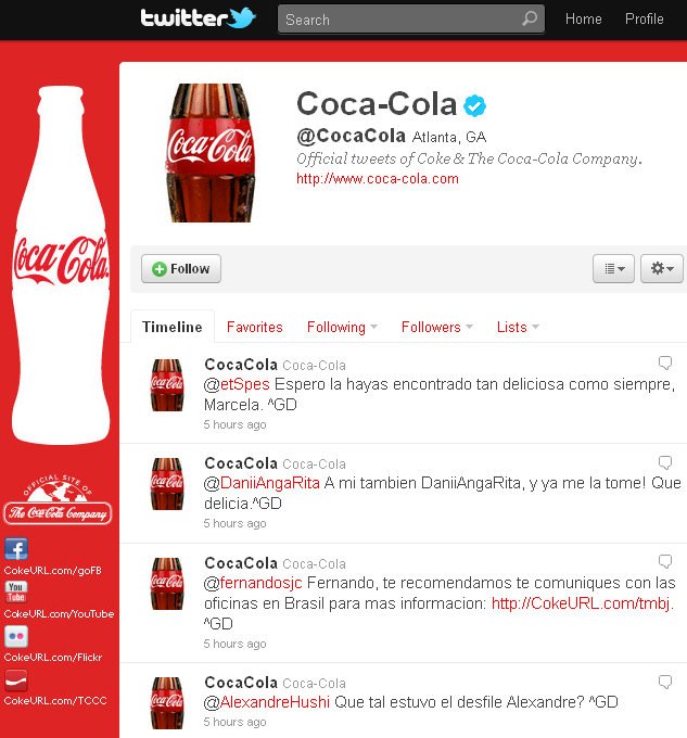 coke twitter feed