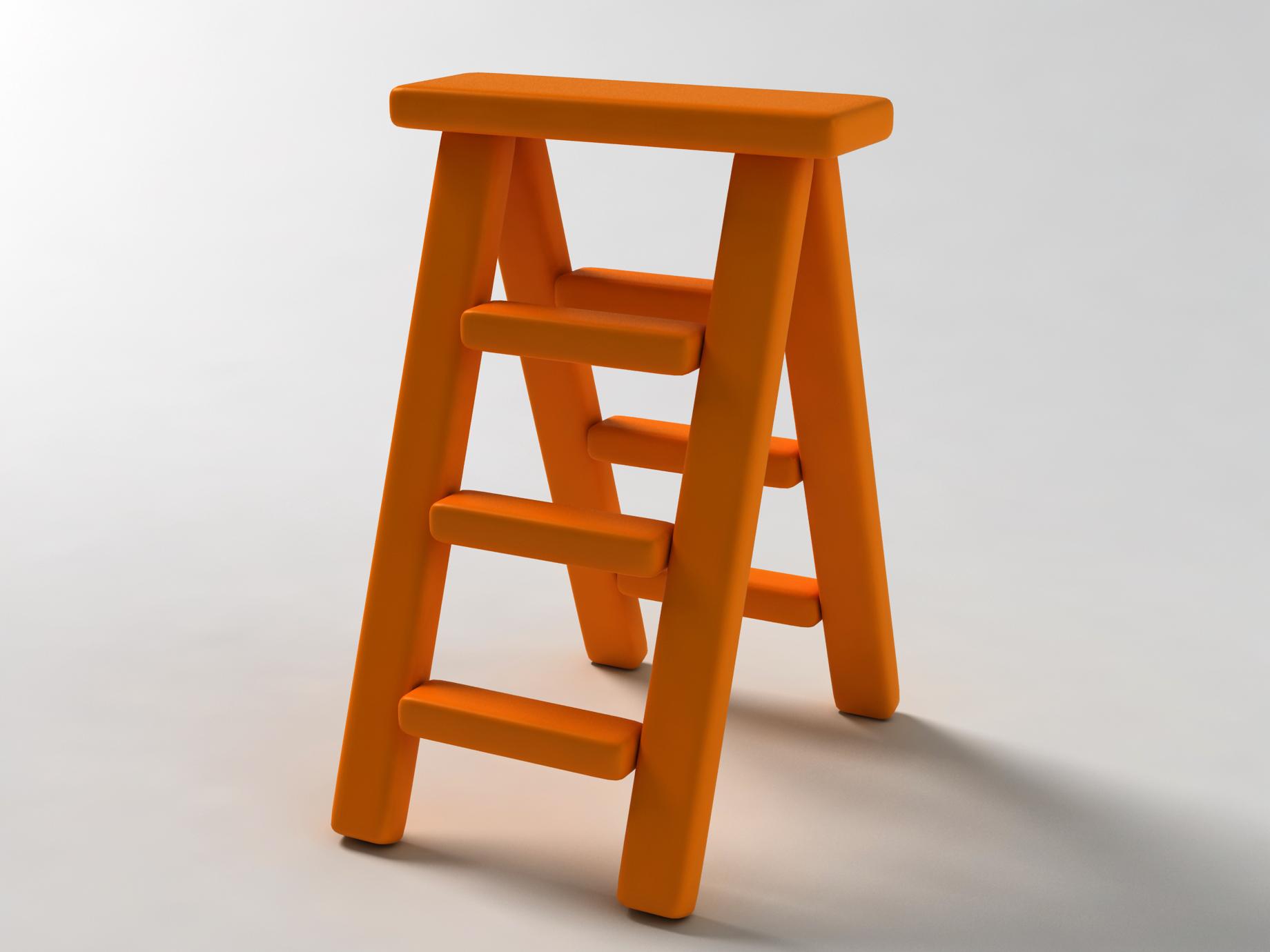 orange ladder