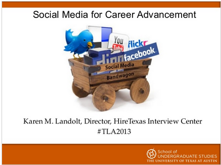 social media career logo