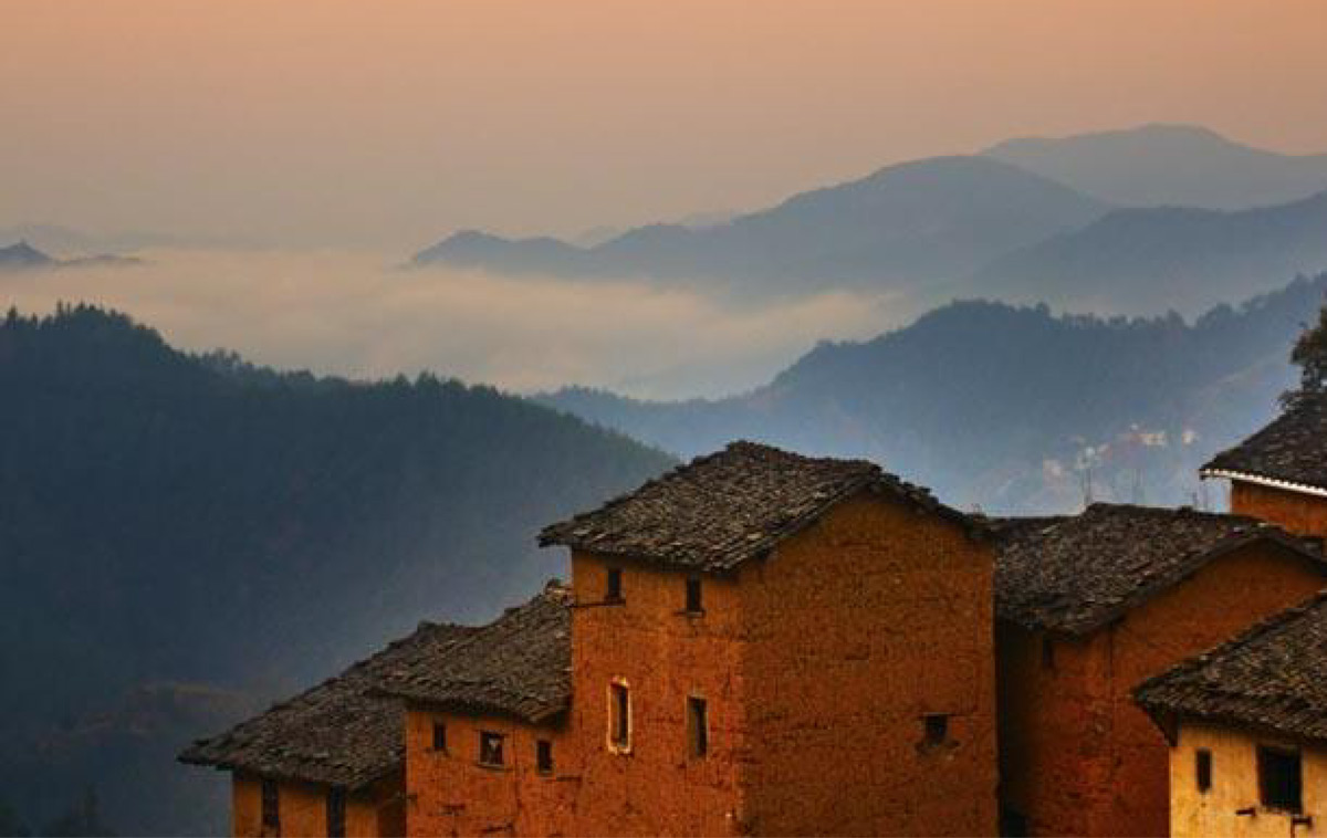 Vernacular rammed earth structures common in China.