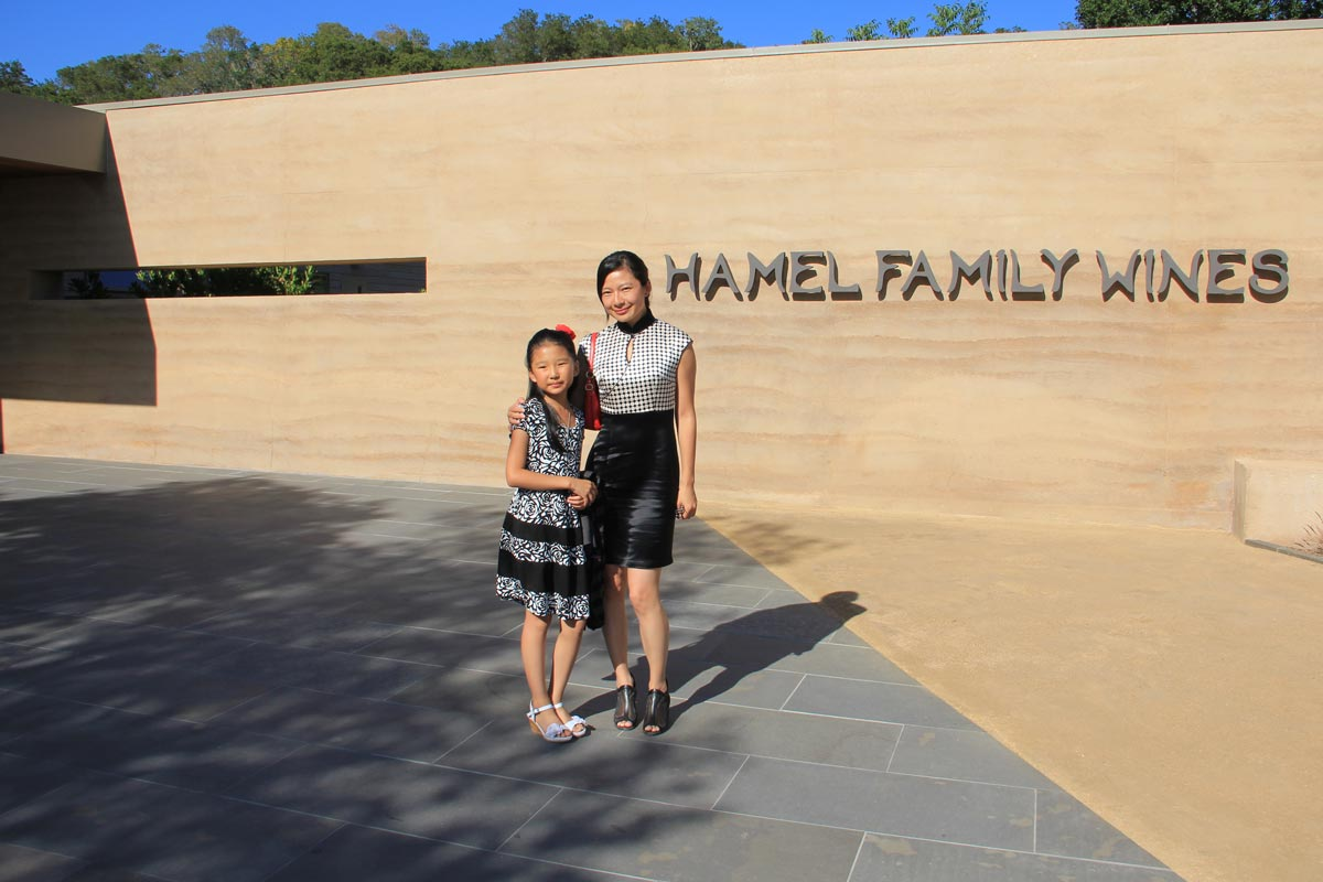 Dr. Rongrong Hu at the Hamel Family Winery before her presentation on the history and future of rammed earth in China.
