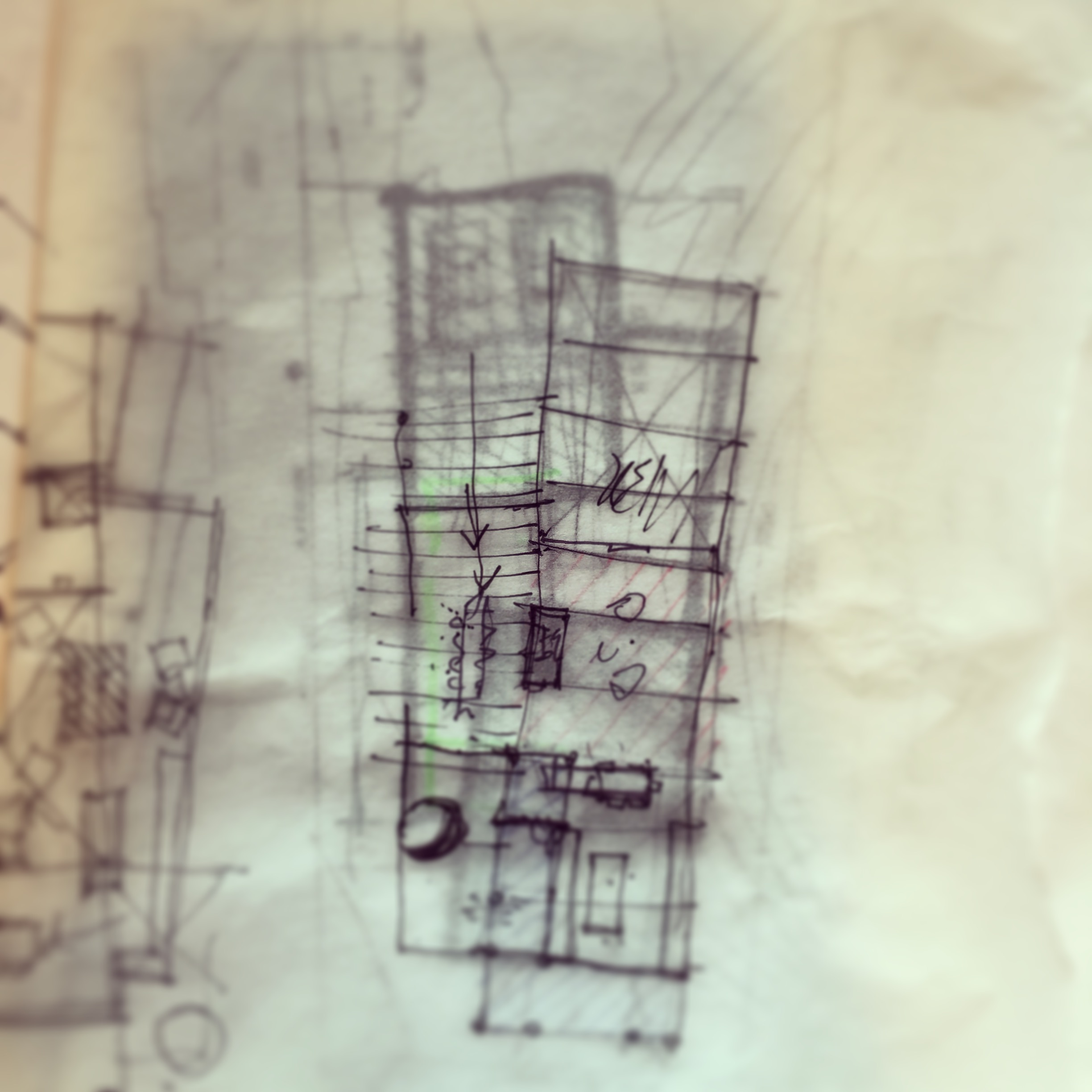 Initial Concept Sketch - Copper Mountain Residence