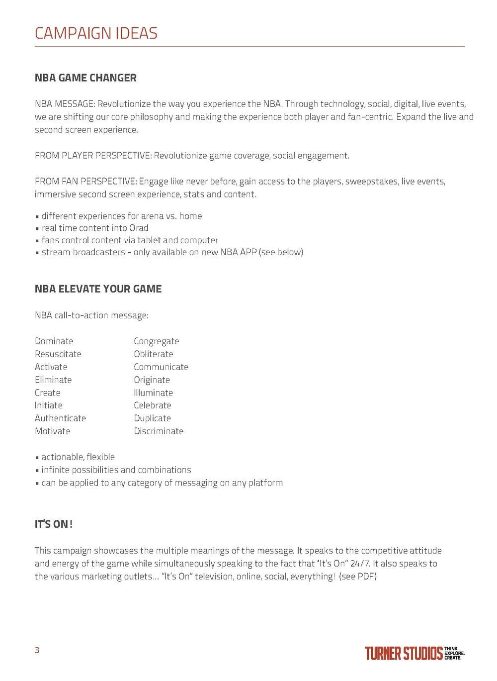 NBA 360 Marketing Presentation — Kasumi Mihori