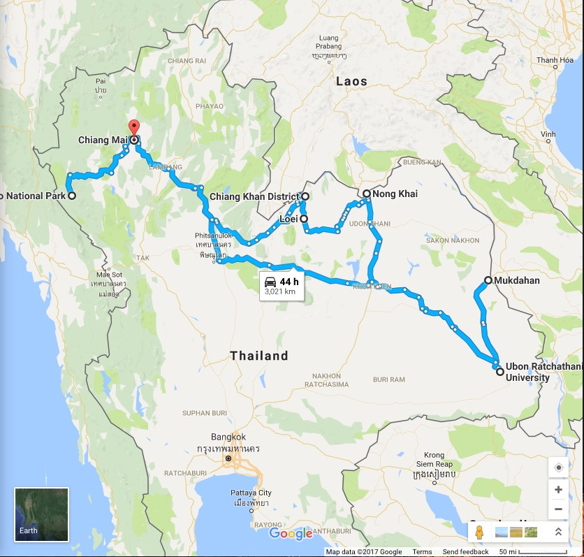 Trip route. Just me, a pickup, and the open road. And coolers full of fish.