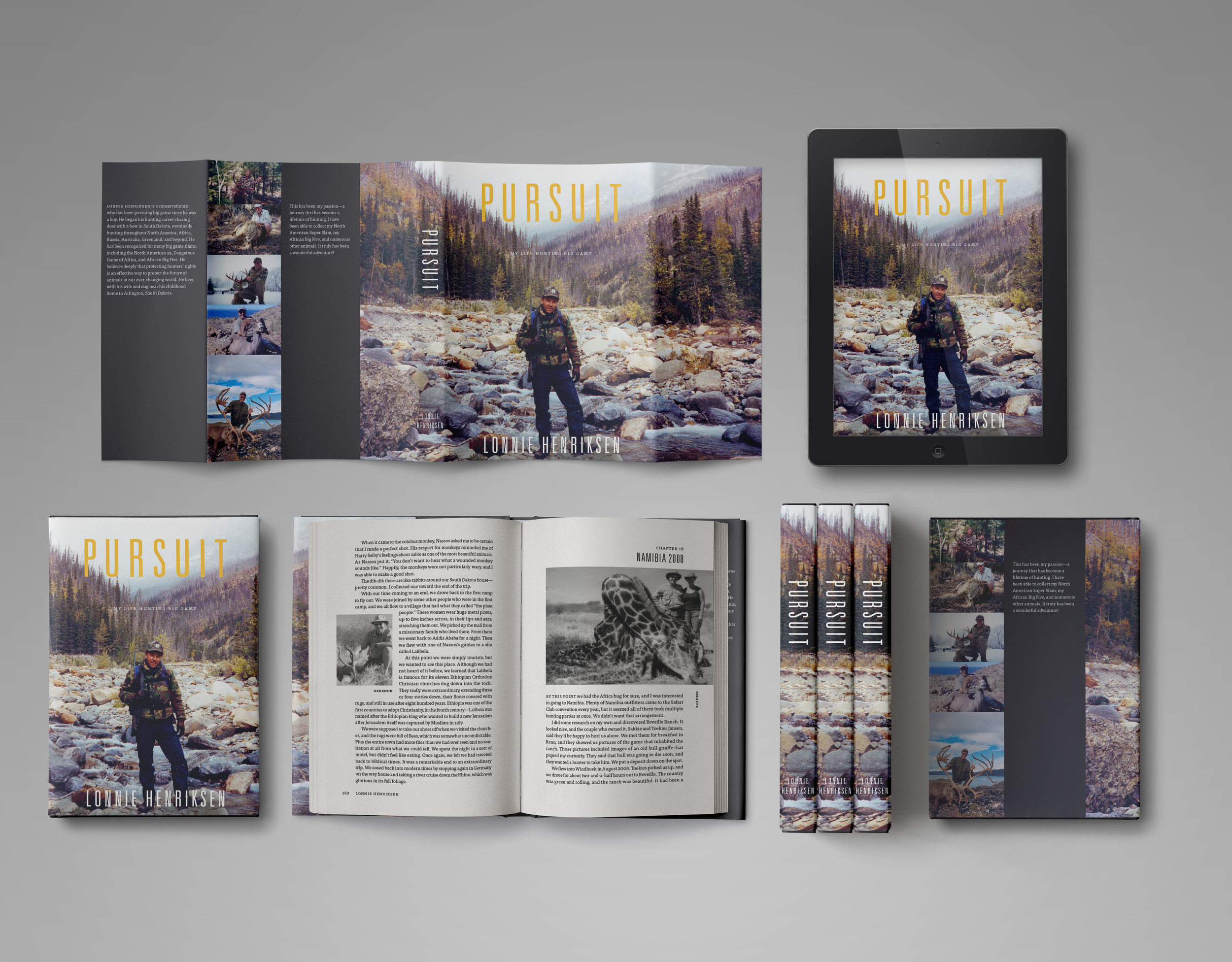 We worked with self-publishing author Lonnie Henricksen to include over 200 photos throughout his autobiography—something a traditional publisher likely would have prevented due to production costs.