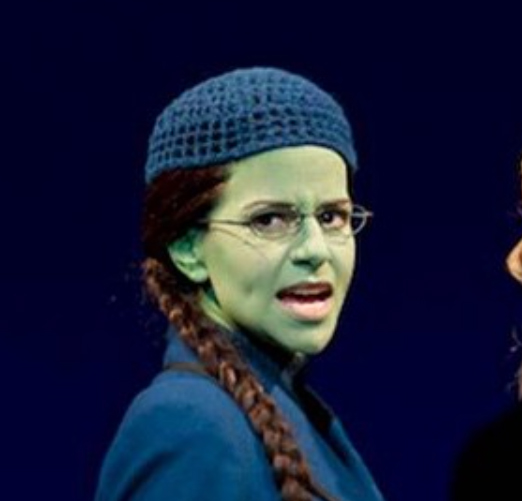 Elphaba wearing her signature beanie. Photo from Wicked the Musical's   Instagram account,