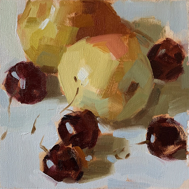 Cherry and two Pears. 2019