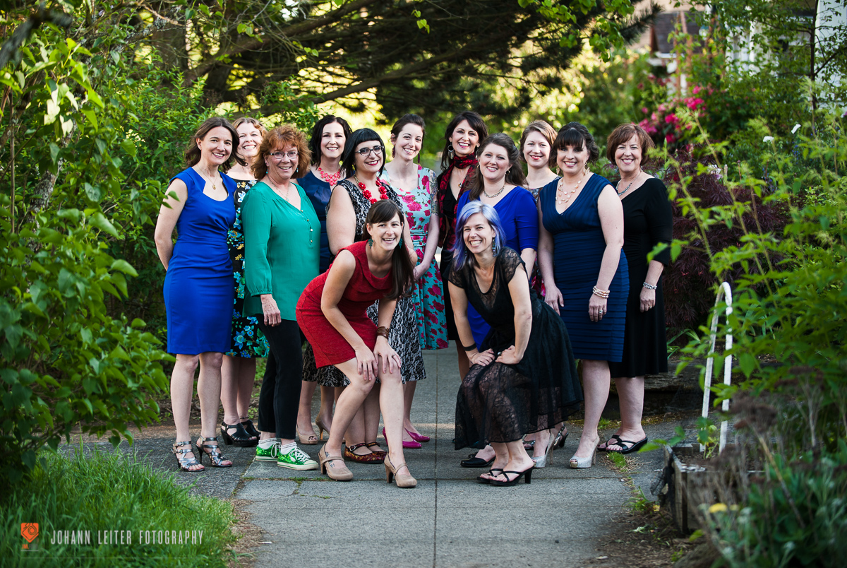 Just look at us! The 2015 cast of Listen To Your Mother: Portland.  Photo by Johann Leiter  JMLFotoCreative