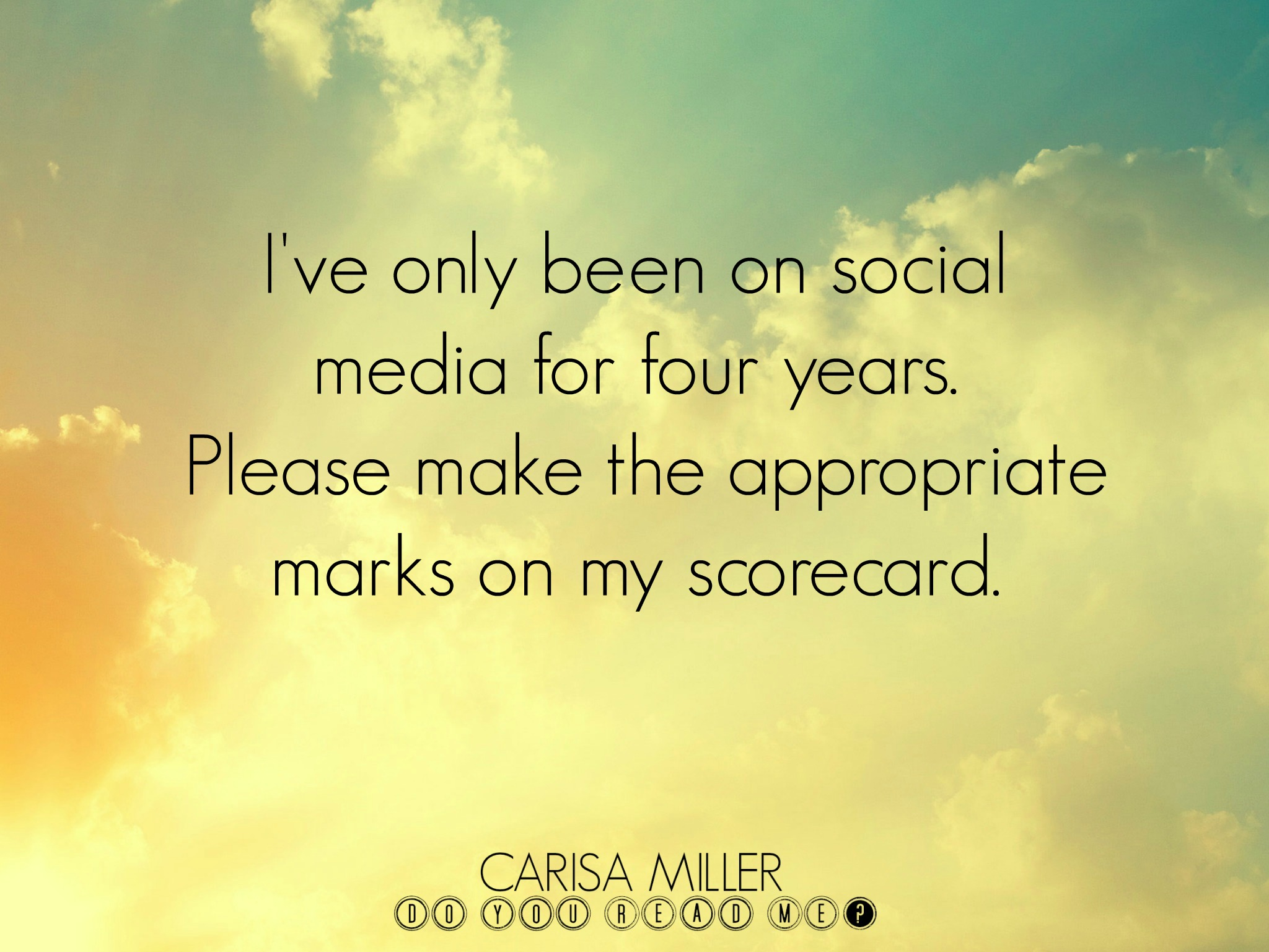 Here I Am Blog Again by Carisa Miller