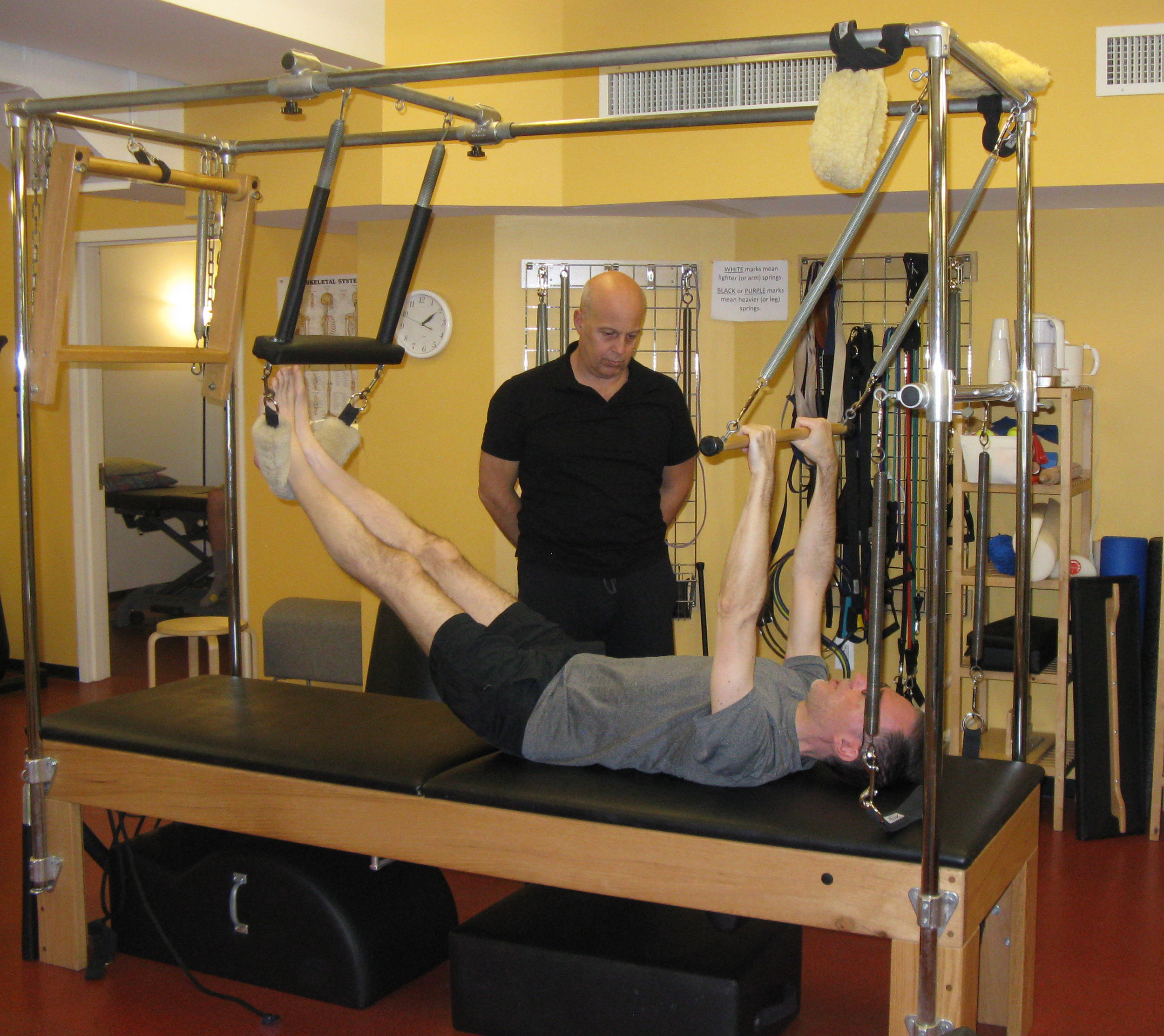 Getting started on the pilates machines