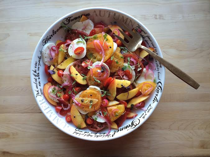 Running With Forks Summer Heirloom Tomato and Nectarine Salad