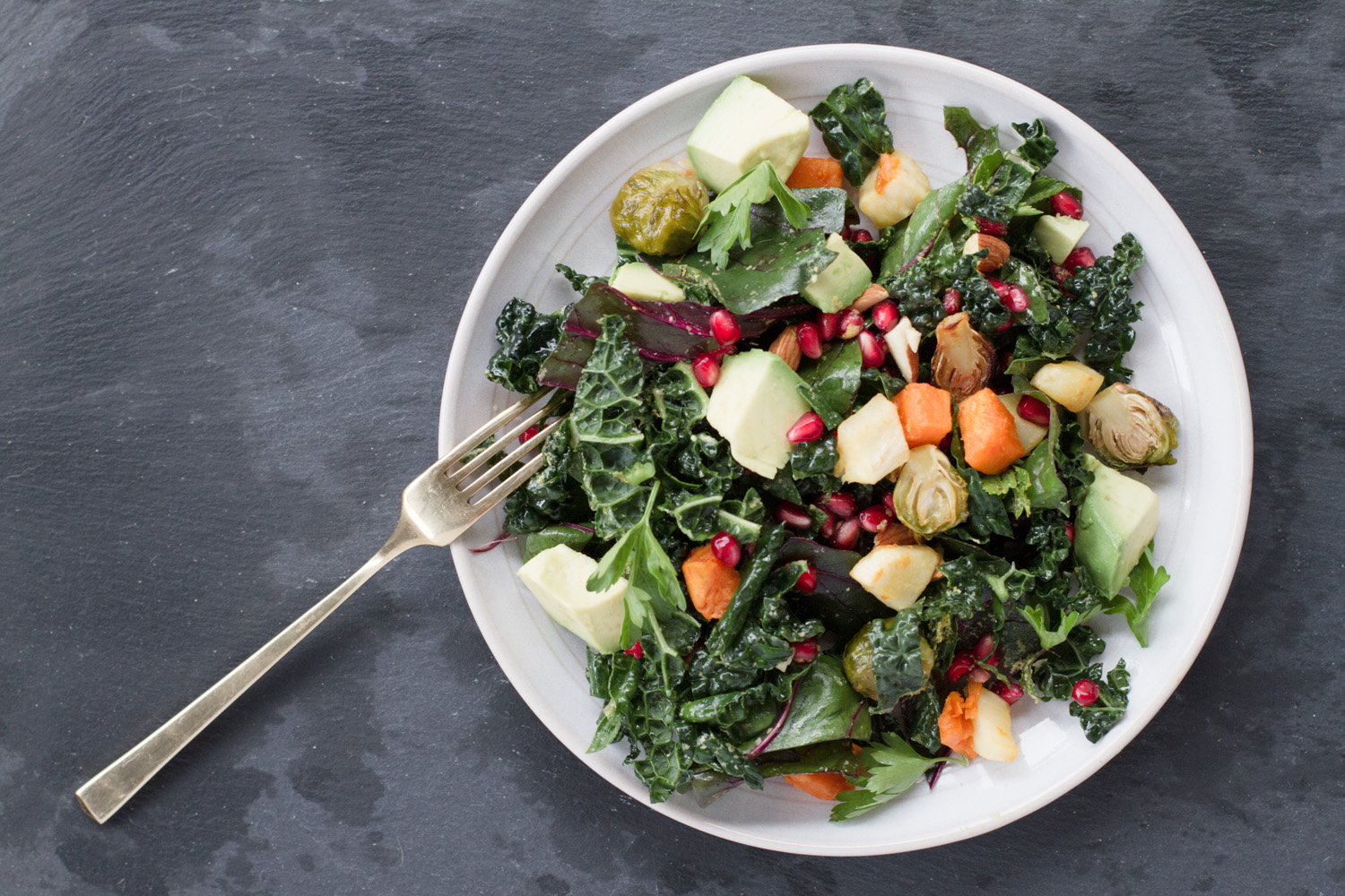 Running With Forks and Barre3 Autumn Greens Panzanella Salad