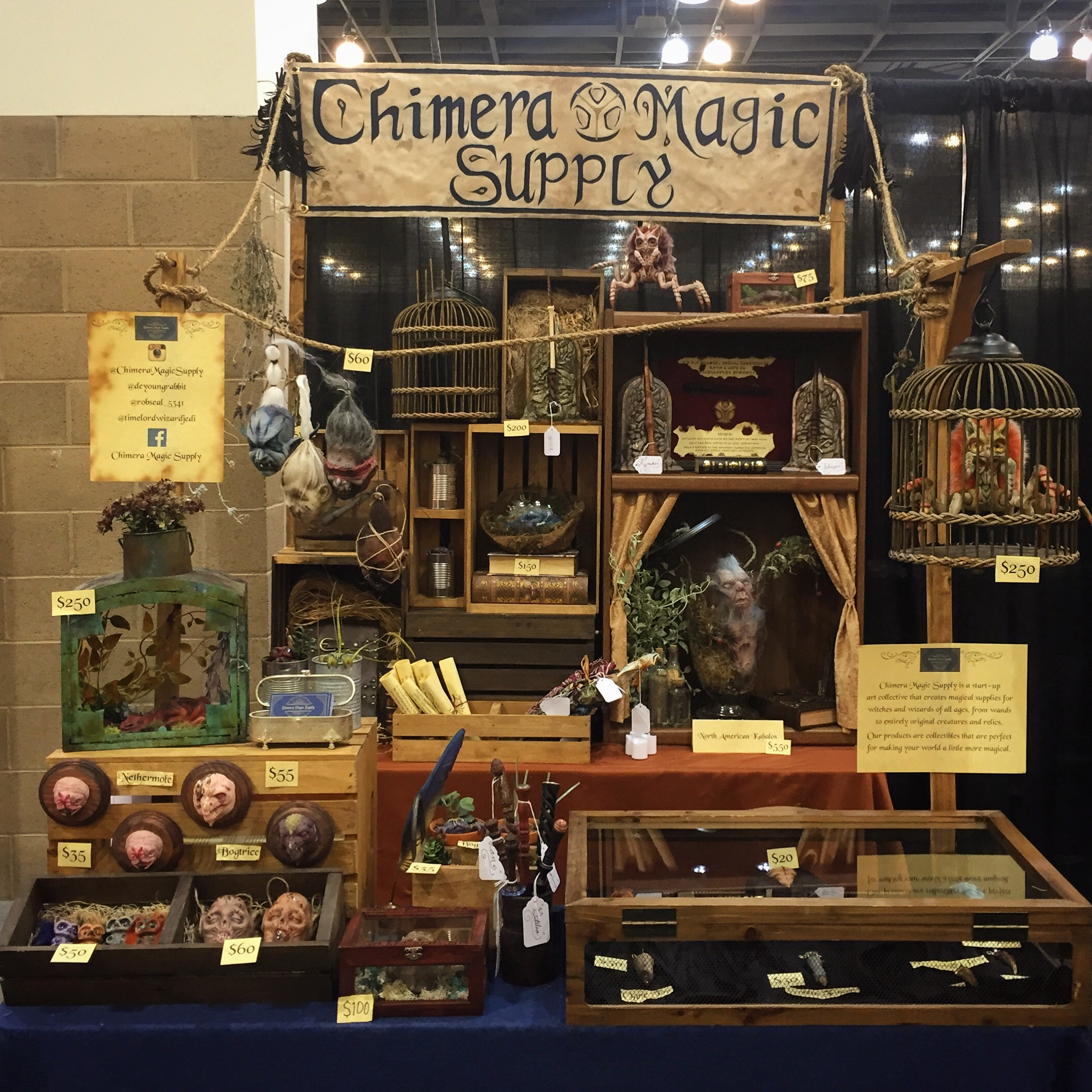 Chimera Magic Supply booth