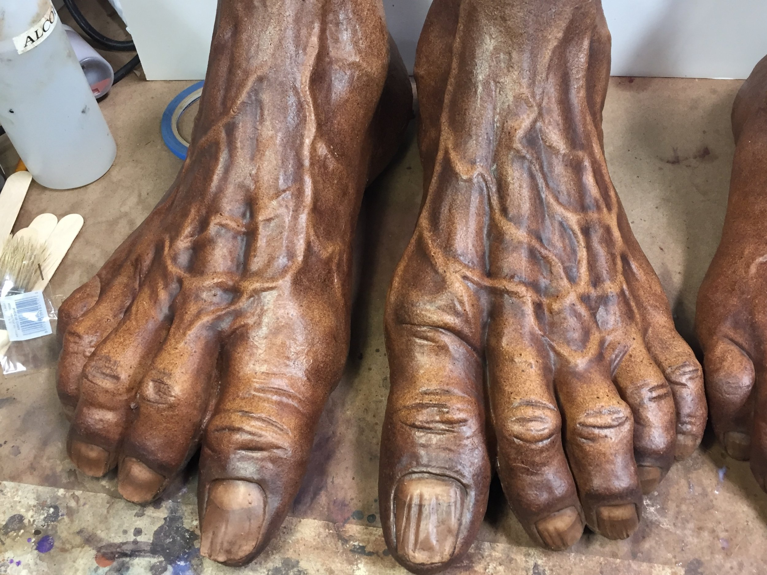 Jack Links feet (Before matte sealer)