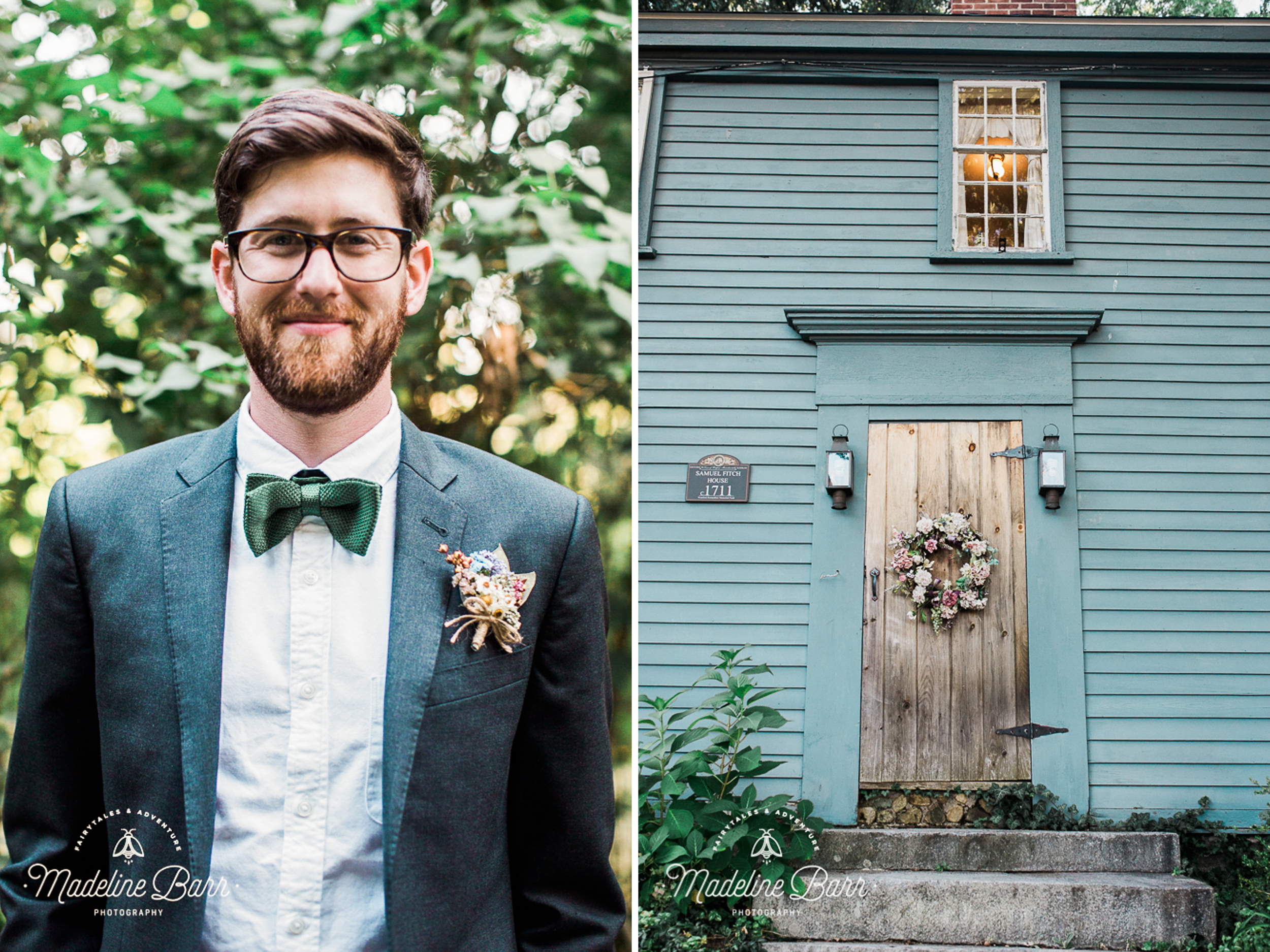 groom in bowtie