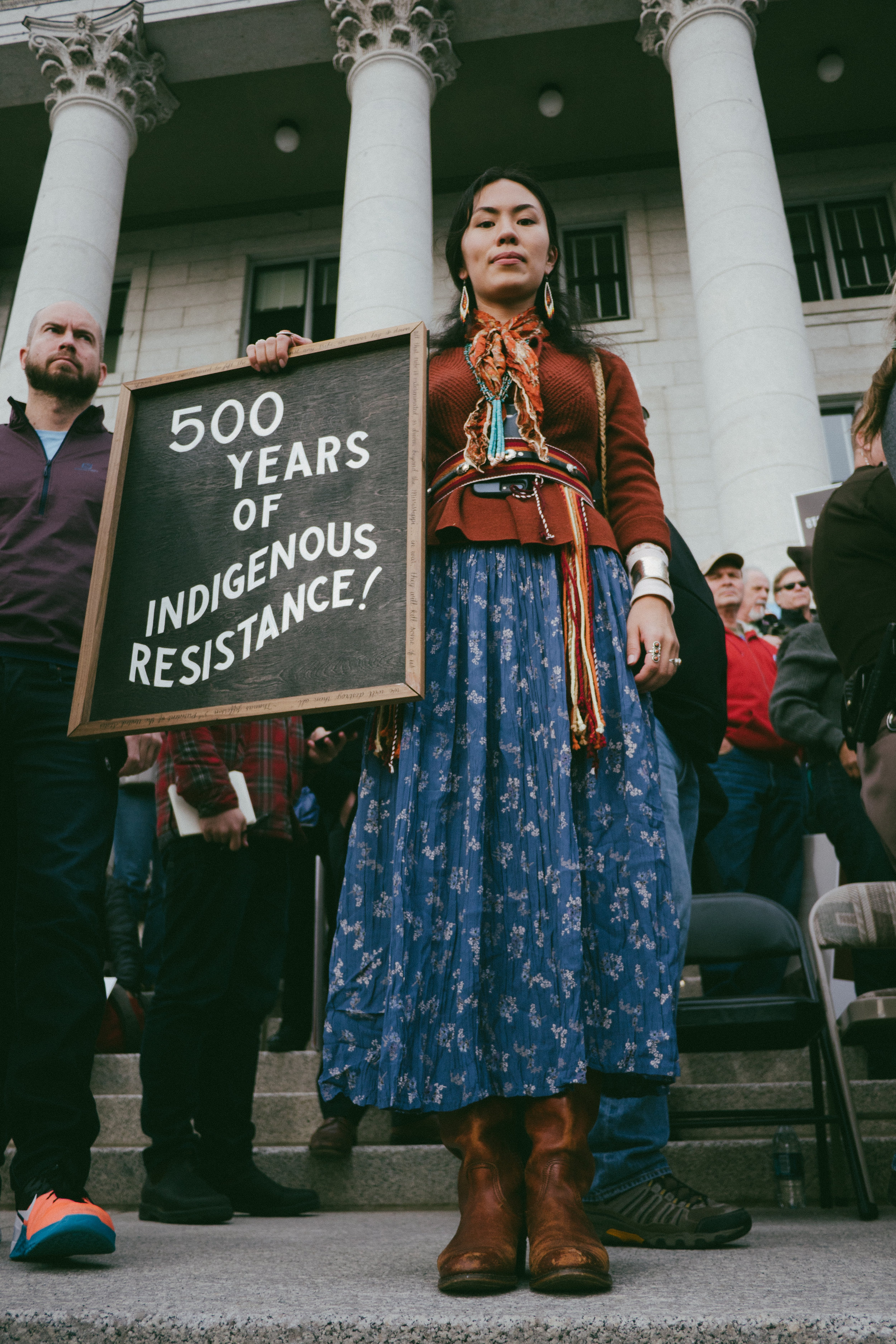 Photo By: Tori Duhaime  Protest for Trump's reduction of the Bears Ears and Grand Staircase-Escalante National Monuments