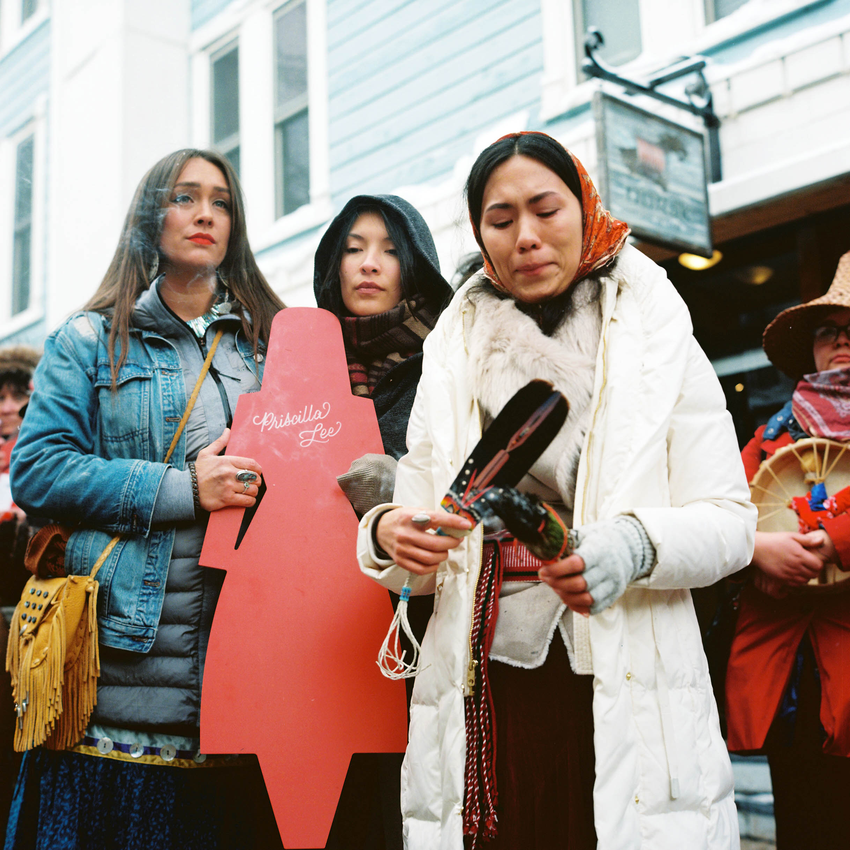 Photo By: Jonathan Canlas MMIWhoismissing Gathering at Sundance Film Festival