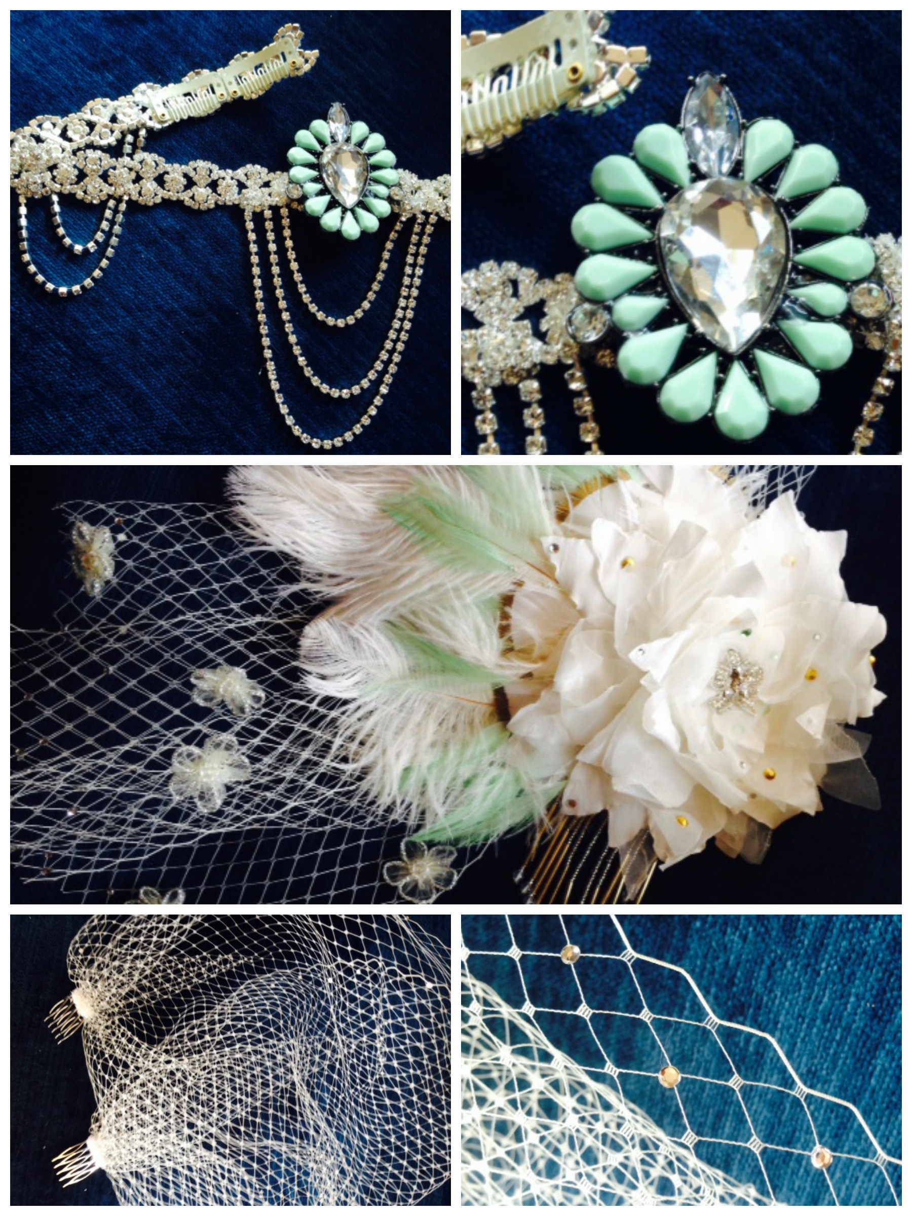 Couture bridal hair accessories