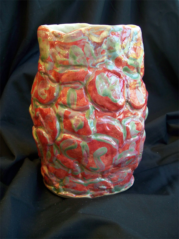Red & Green Vase