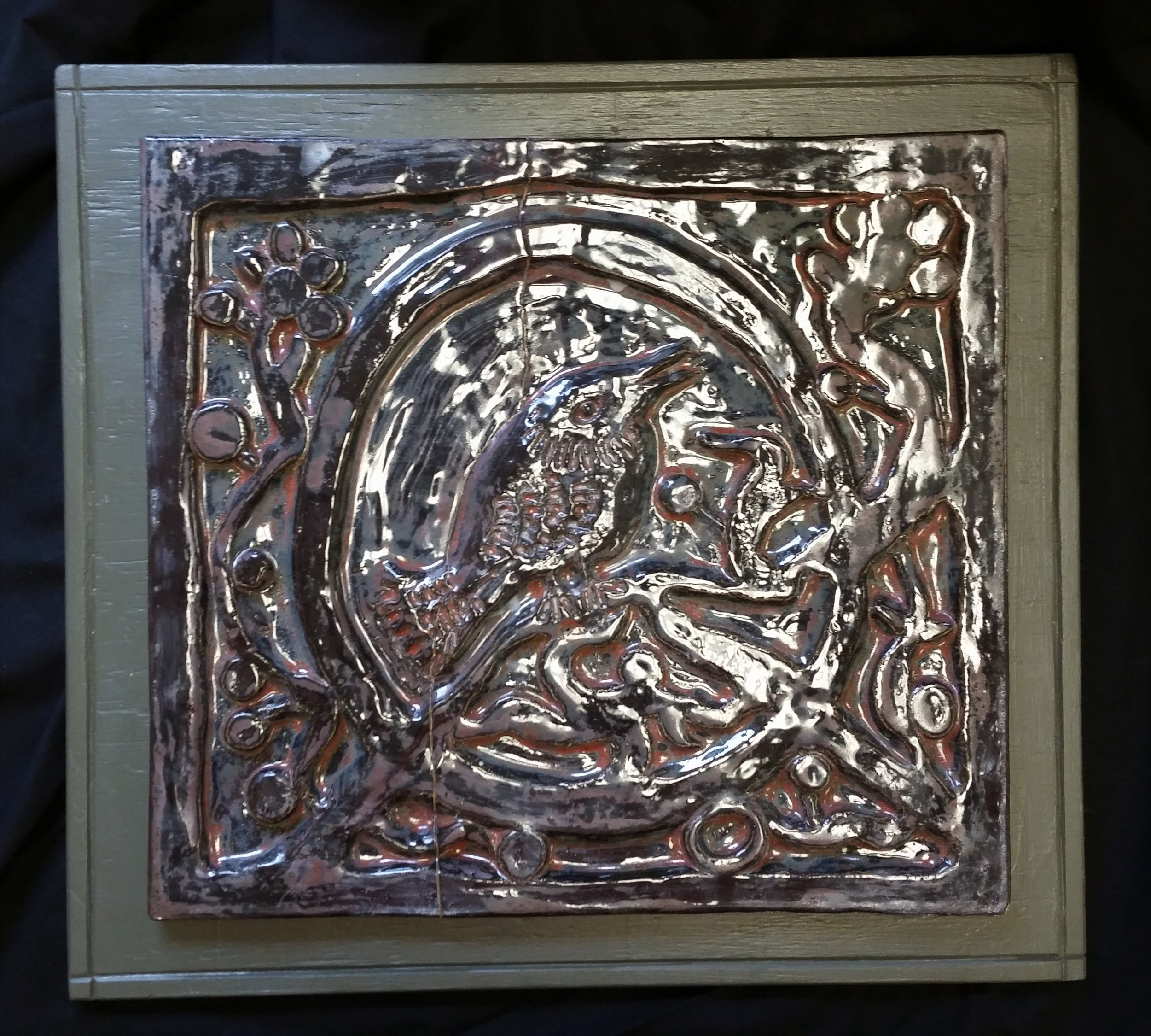 Feathered Friend bas-relief - SOLD