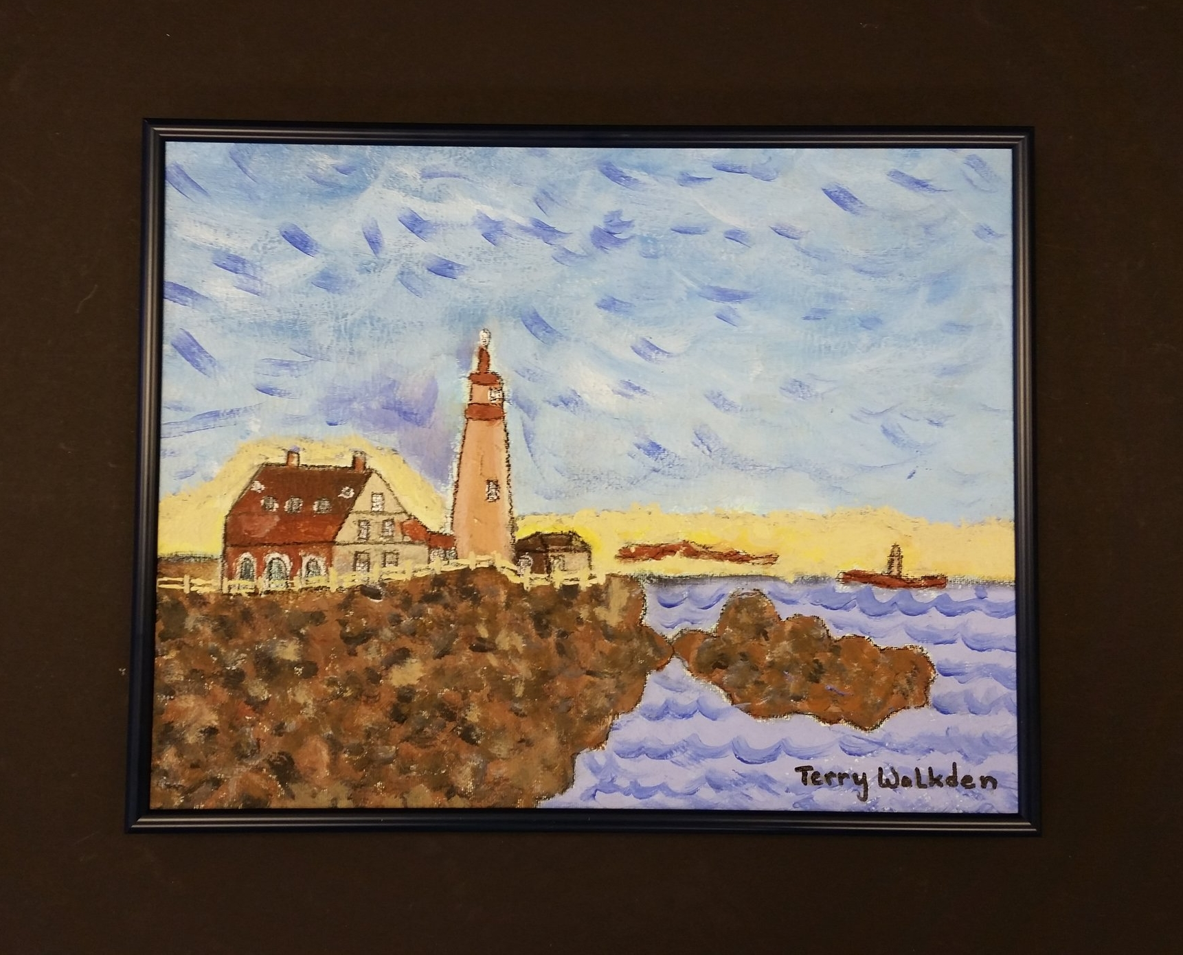 Portland Lighthouse acrylic painting