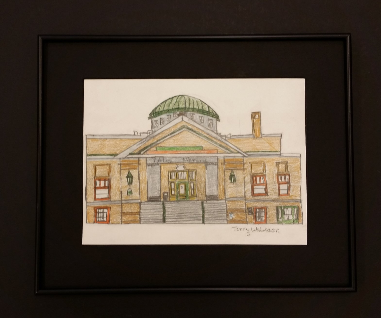 Norwalk Public Library drawing