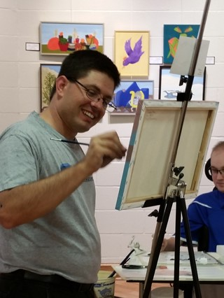 Tony at the easel