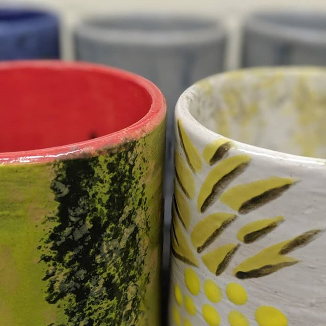 What a perfect day to unload the kiln...it's #mugshotmonday! Here are a few teasers before our workshop participants collect their pieces. Stay tuned to see more photos of these amazing mugs! #artistsopenstudioinc #artstudio #norwalkohio #nonprofit #claystudio #inclusion #artsaccess #mugs #glazing #glazefire #kilnfired #success #clay #ceramics #stoneware #coffeemugs #creativity #community #createforacause